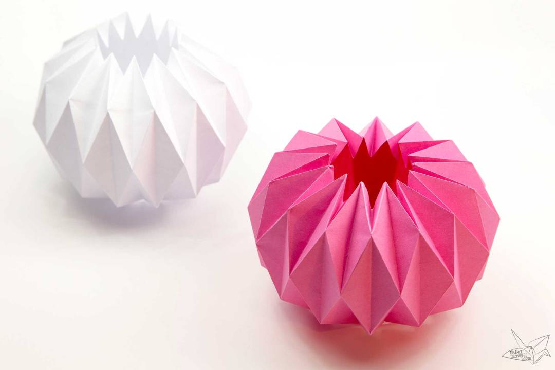 Origami Vase Cover Tutorial - Accordion Origami