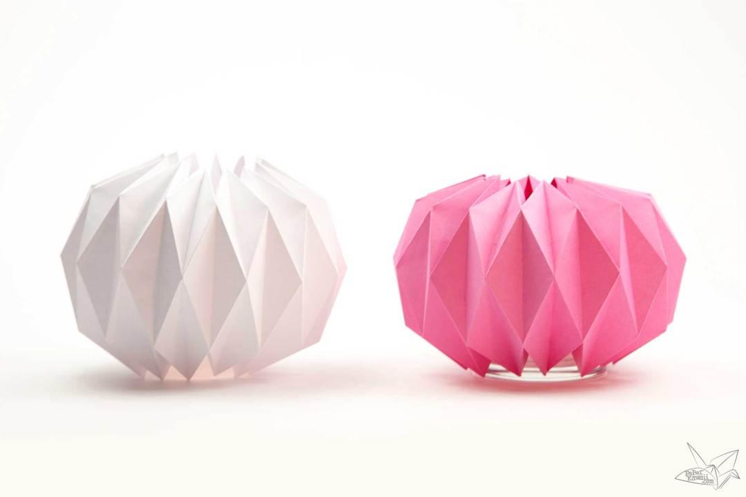 Origami Vase Cover Tutorial - Accordion Origami via @paper_kawaii
