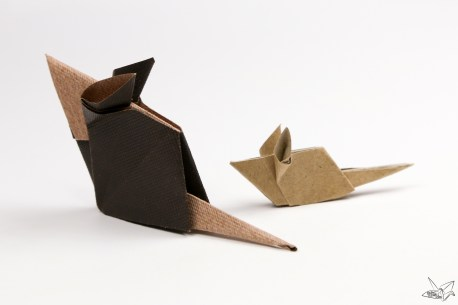 Origami Mouse Tutorial via @paper_kawaii