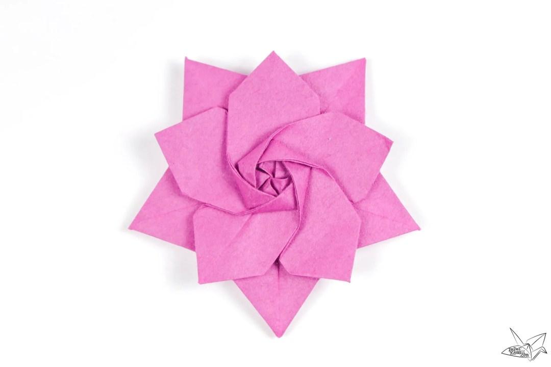 Origami Sakura Star Tutorial - Designed by Ali Bahmani