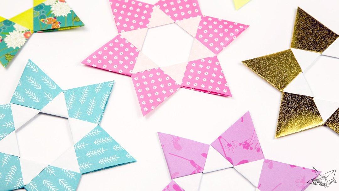 Origami Dual Hexagram Stars Tutorial