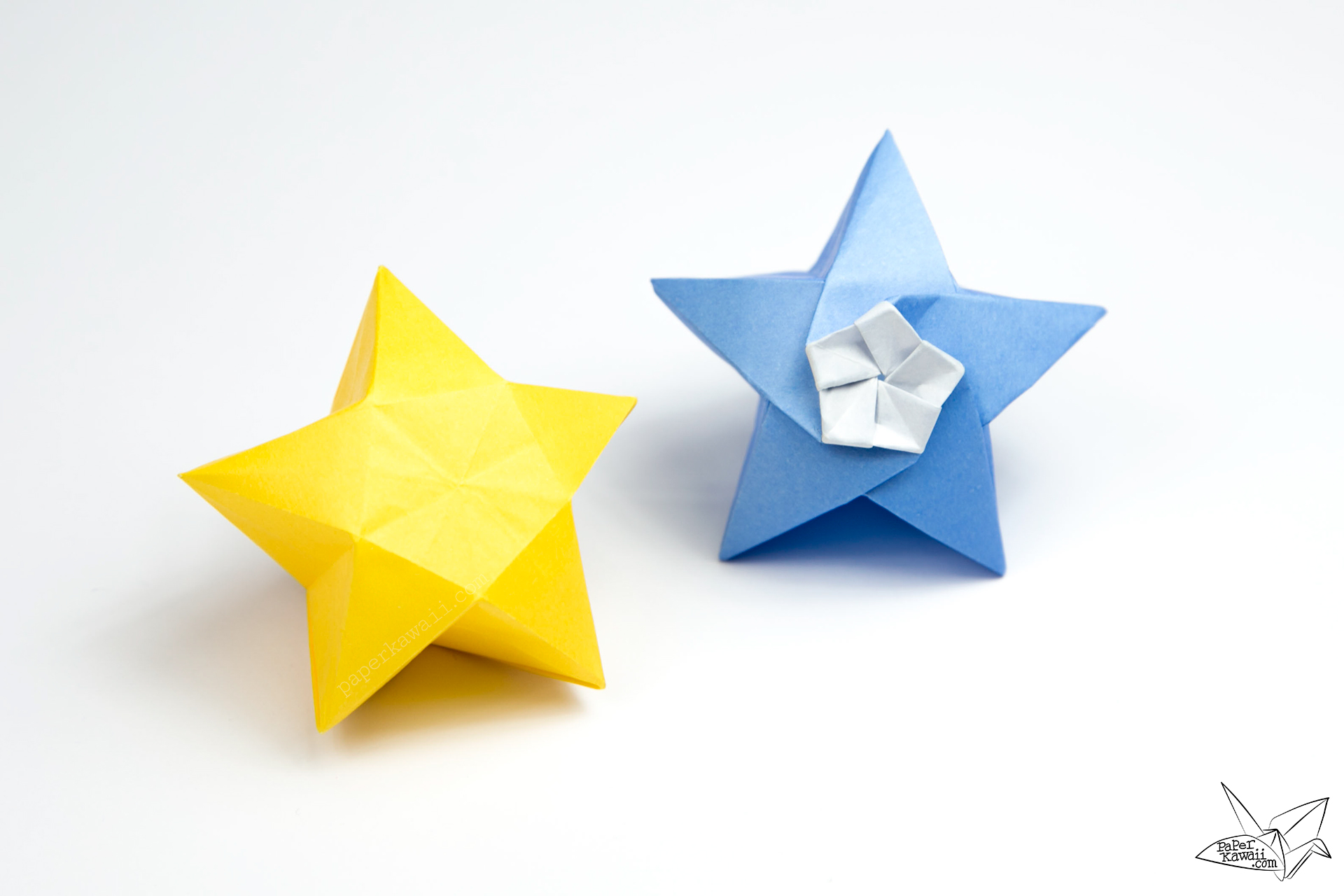 origami twinkle star tutorial puffy stars paper kawaii