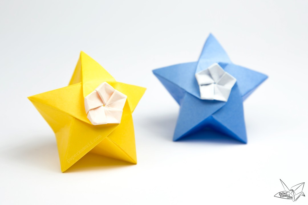 Origami Twinkle Star Tutorial - Puffy Stars - Paper Kawaii - photo#9