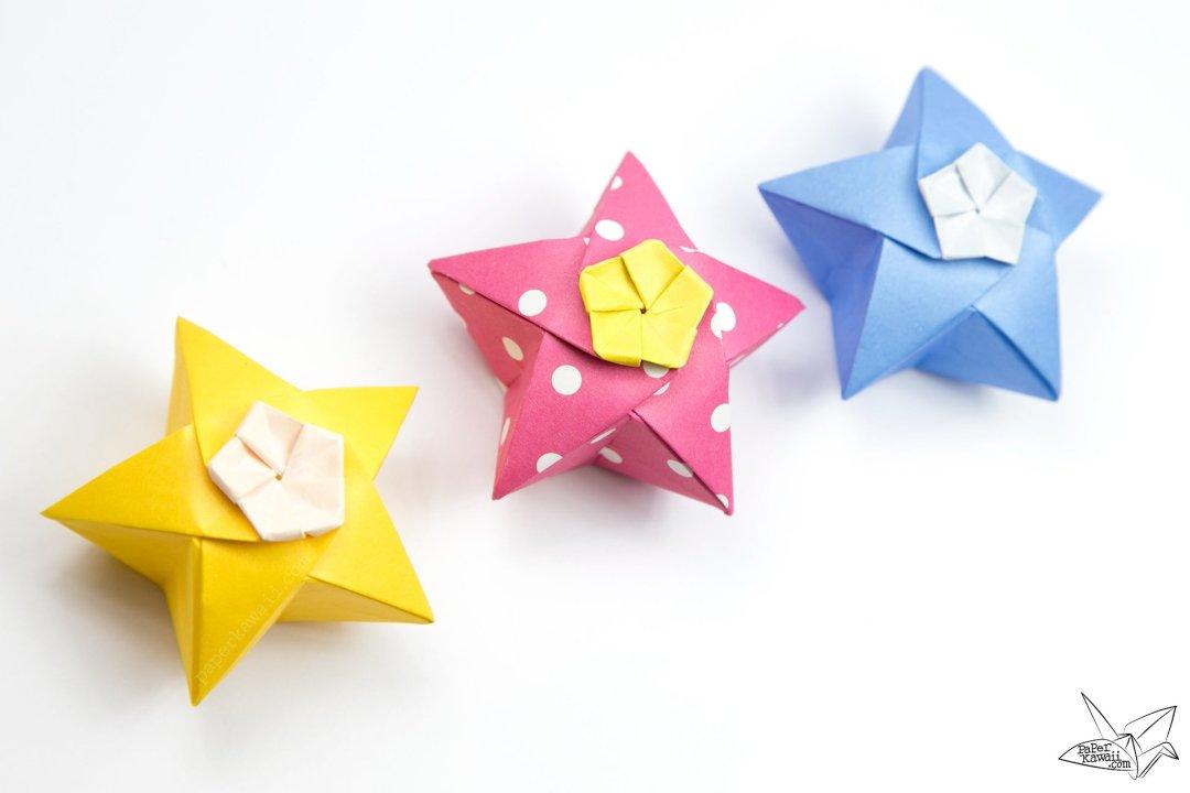 Origami Twinkle Star Tutorial - Puffy Stars via @paper_kawaii
