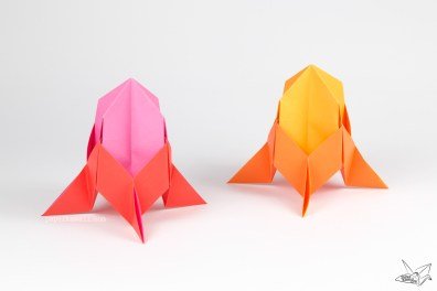 Easy Origami Rocket Spaceship Tutorial