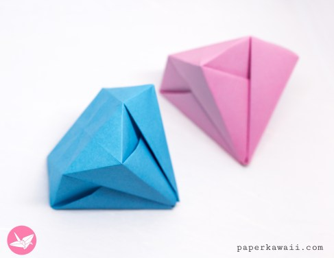 Easy Origami Diamond Tutorial