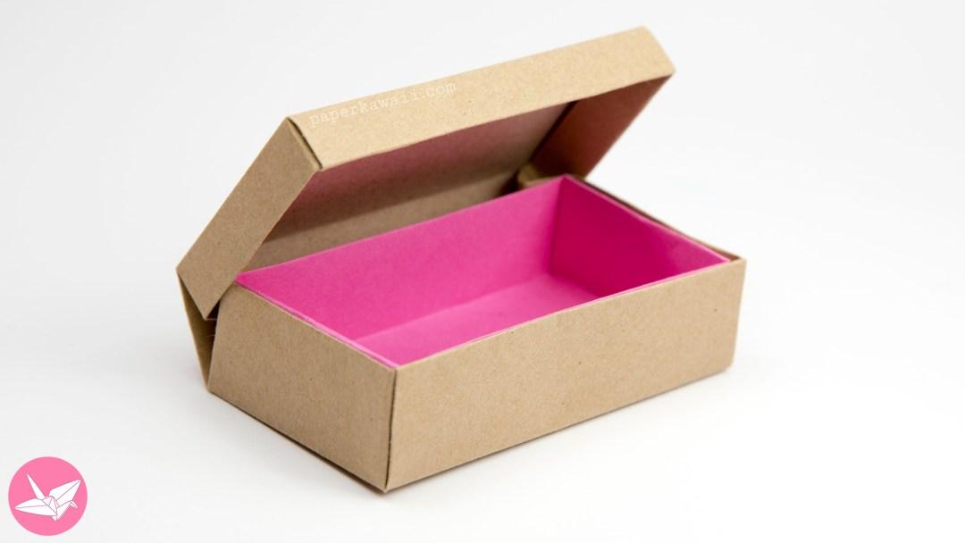 Origami Long Hinged Box Tutorial - Treasure Chest Box via @paper_kawaii