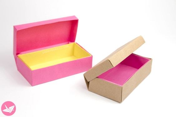 Origami Long Hinged Box Tutorial – Treasure Chest Box