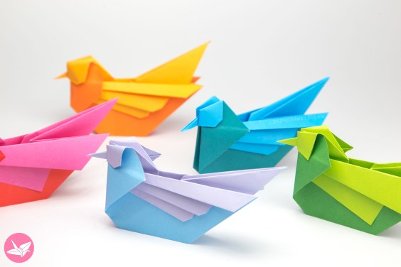 Origami Bird Tutorial – Mandarin or Seagull – Simon Andersen