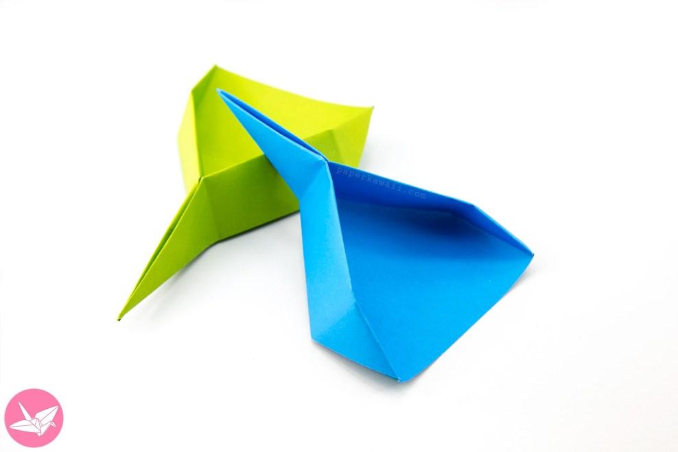 Origami Dustpan Scoop Tutorial - Spring Cleaning DIY via @paper_kawaii