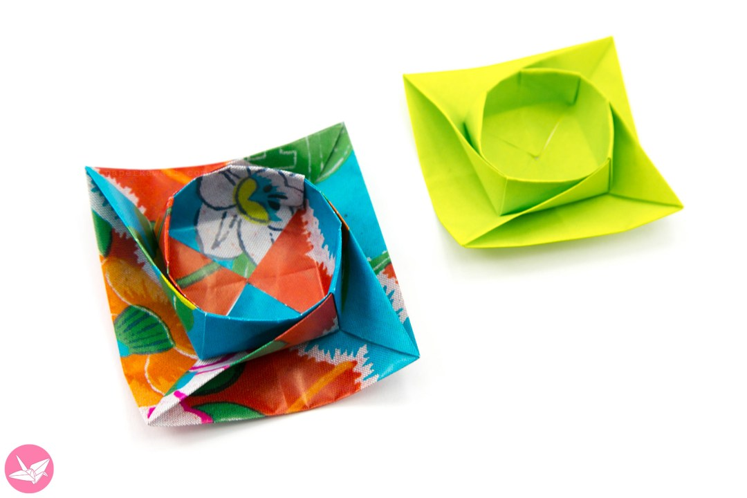 Twisted Round Origami Box / Bowl Tutorial via @paper_kawaii