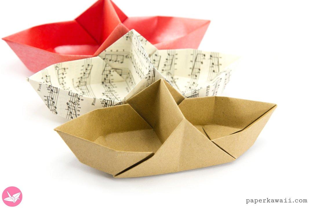 Origami Basket Boat Tutorial - Divided Basket via @paper_kawaii