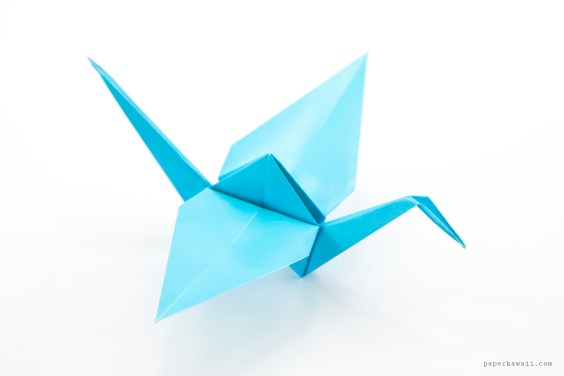 How to make an Origami Crane-Lily Box Crane Module | 折り紙の箱 ... | 376x564