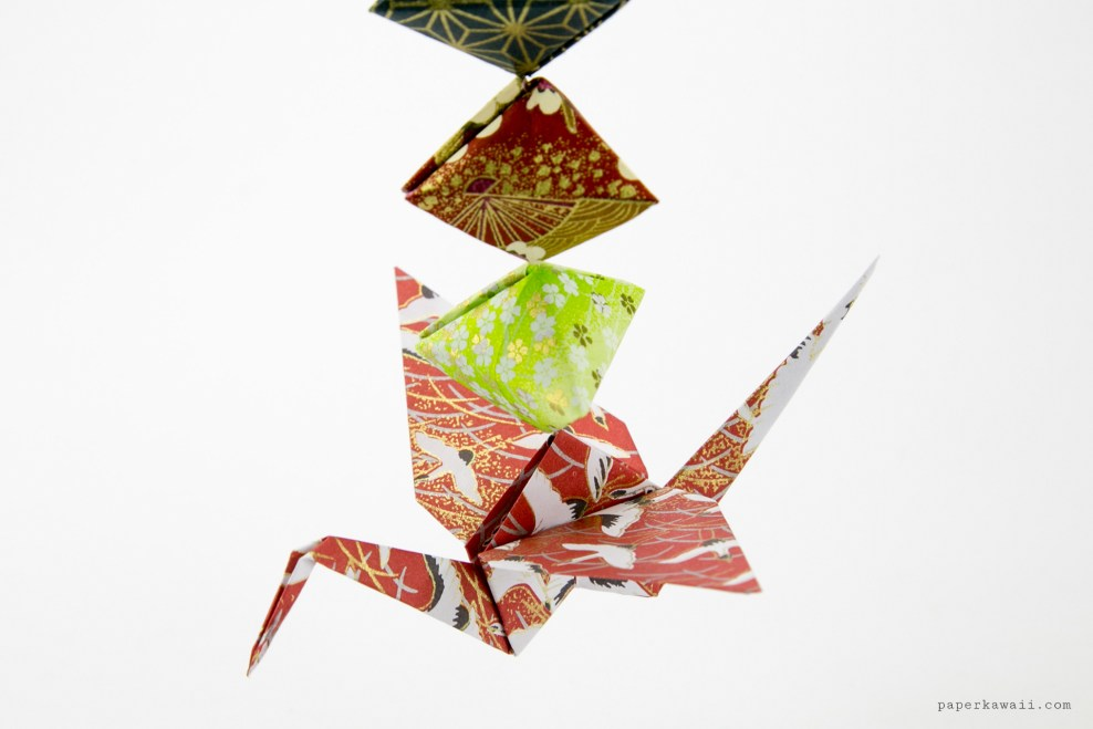 Origami Crane Tutorial - Traditional Origami Tsuru via @paper_kawaii