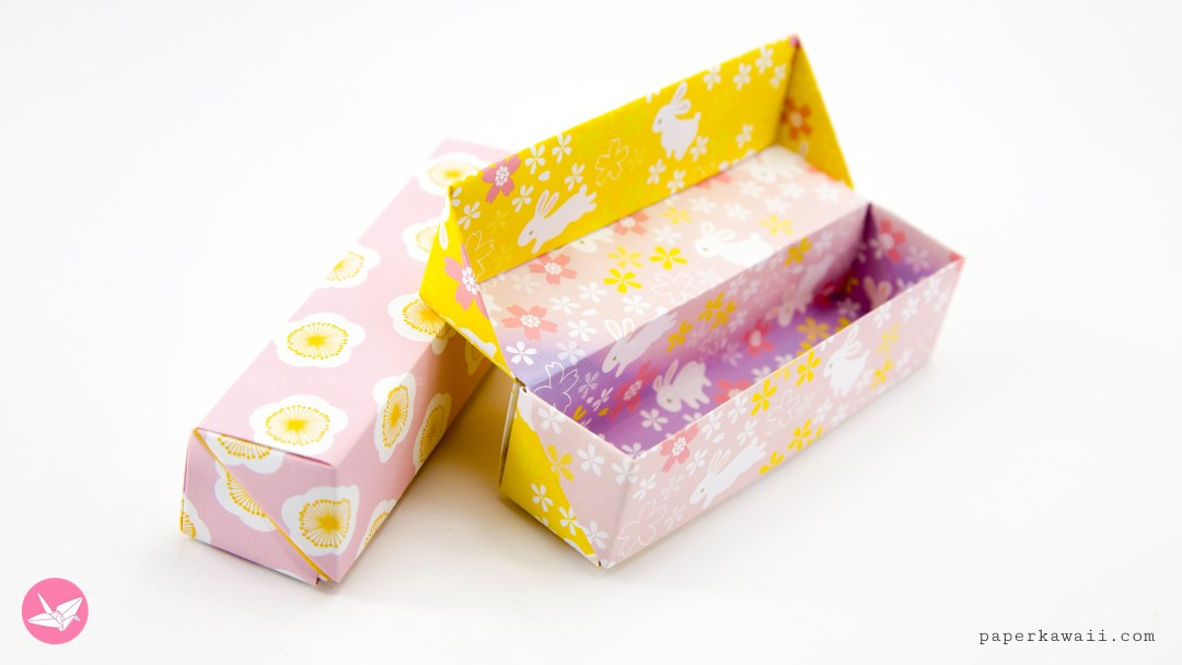 Origami Long Hinged Gift Box Tutorial - Pencil Box via @paper_kawaii