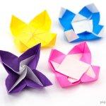 Origami Pinwheel Flowers Tutorial