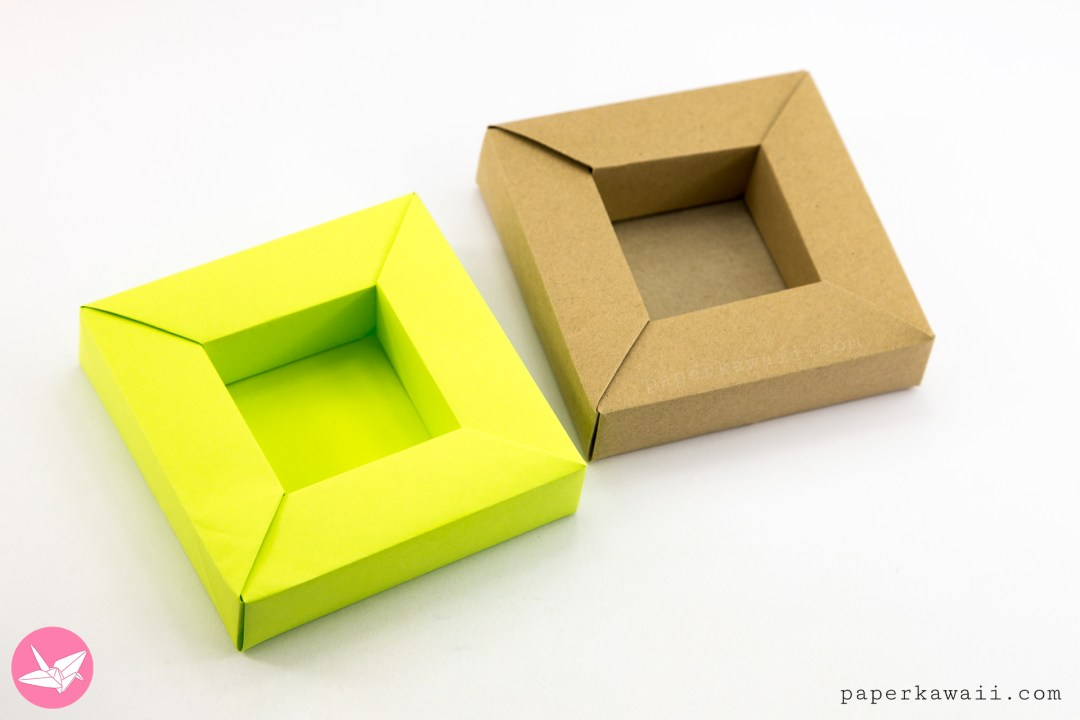Origami Frame Box Tutorial - Wide Rimmed Box via @paper_kawaii