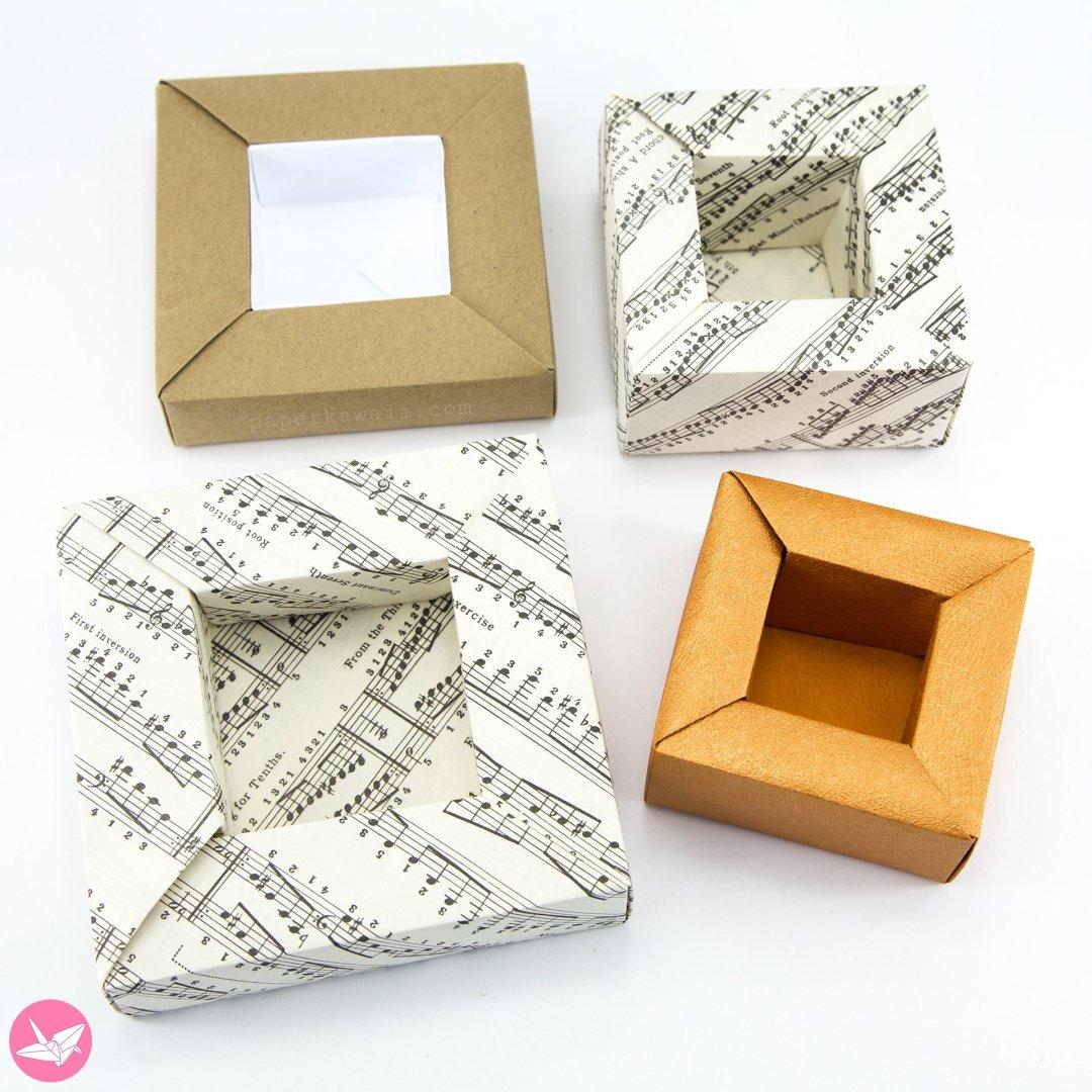 Origami Planter Pot Box Tutorial via @paper_kawaii