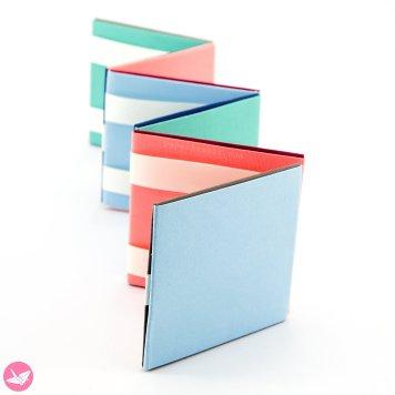 Jacobs Ladder Tutorial - Origami Squares - 2 Methods via @paper_kawaii