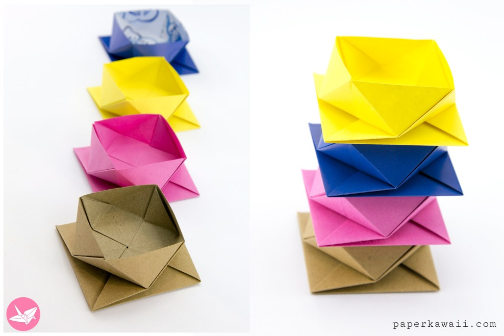 Origami Square Twist Box Tutorial via @paper_kawaii