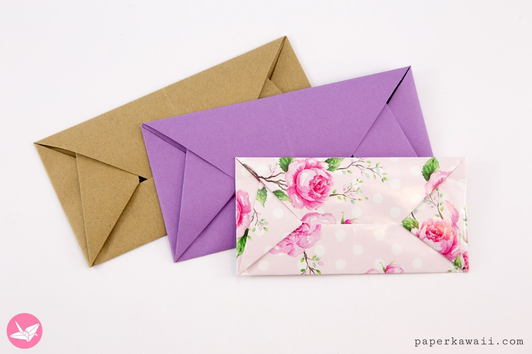 Super Easy Origami Envelope Tutorial - DIY - Paper Kawaii - YouTube | 720x1080