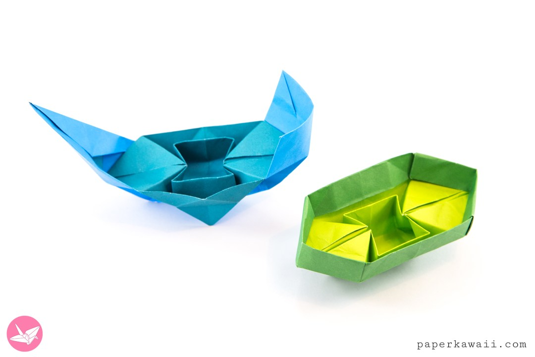 Origami Chinese Junk Boat Traditional Closed Versions Paper Kawaii