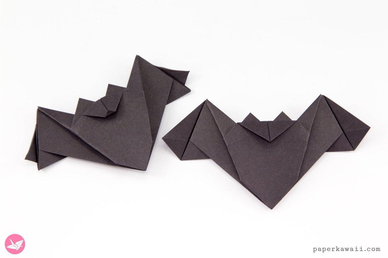 Origami Batty Bat For Halloween Tutorial via @paper_kawaii