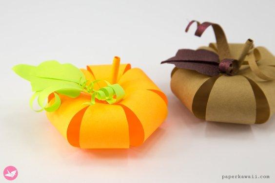 Easy Paper Pumpkin Tutorial & Free Template