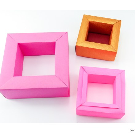Origami Photo Frame Tutorial - Make a Photo Display! via @paper_kawaii