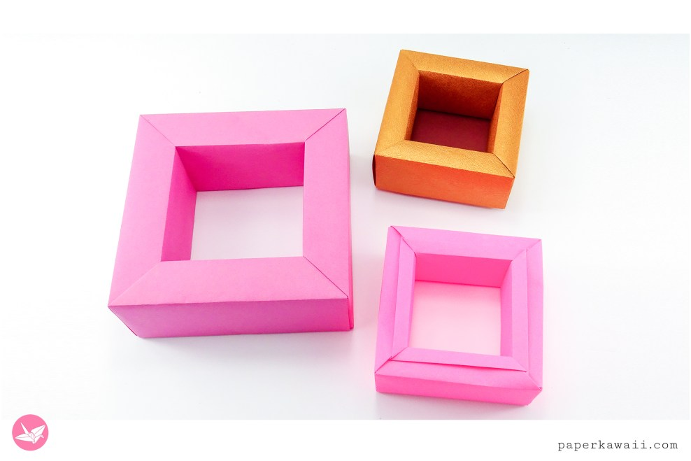 Modular Origami Display Frame Tutorial via @paper_kawaii