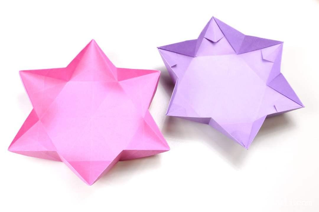 6 Point Star Dish via @paper_kawaii