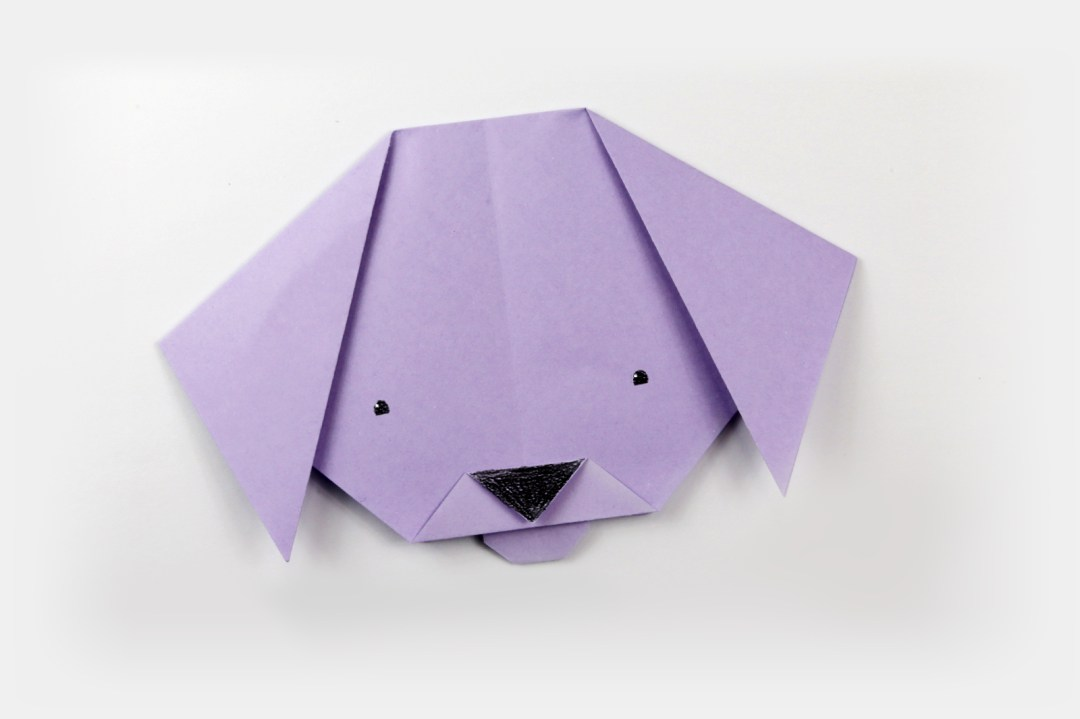 Dog Face via @paper_kawaii