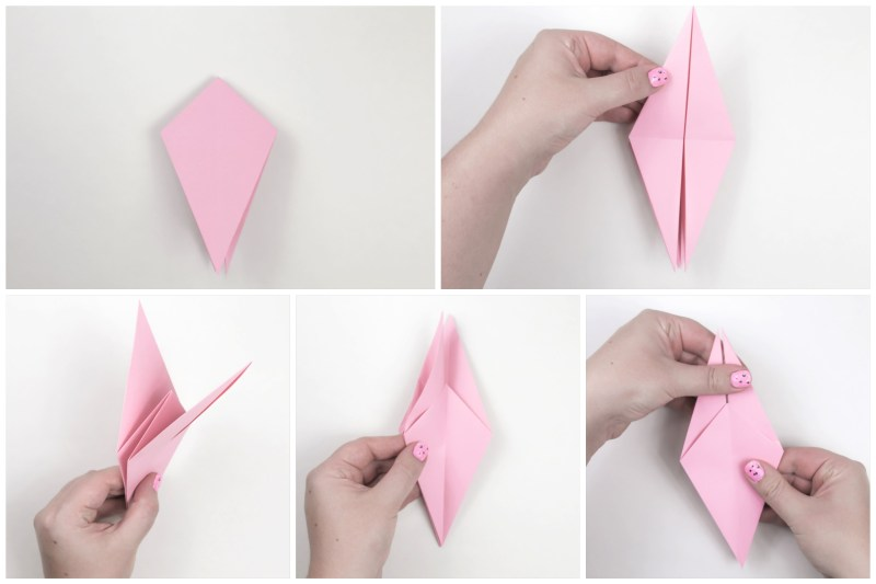 Origami bird instructions - How to make origami flapping bird on Vimeo | 533x800