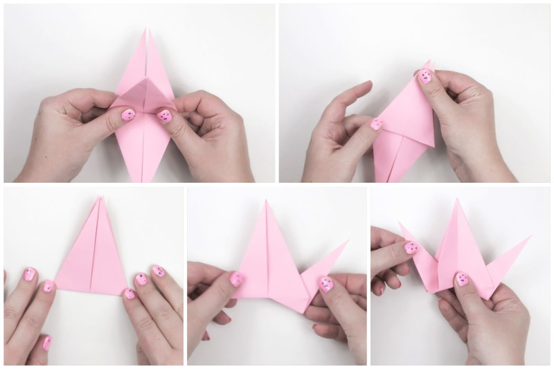 Origami flapping bird – Paper birds wall hanging – How to make a ... | 533x800