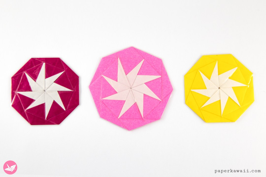 Origami 8 Point Star Tato Tutorial via @paper_kawaii