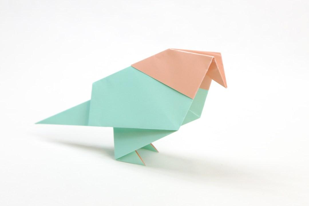 Pigeon via @paper_kawaii
