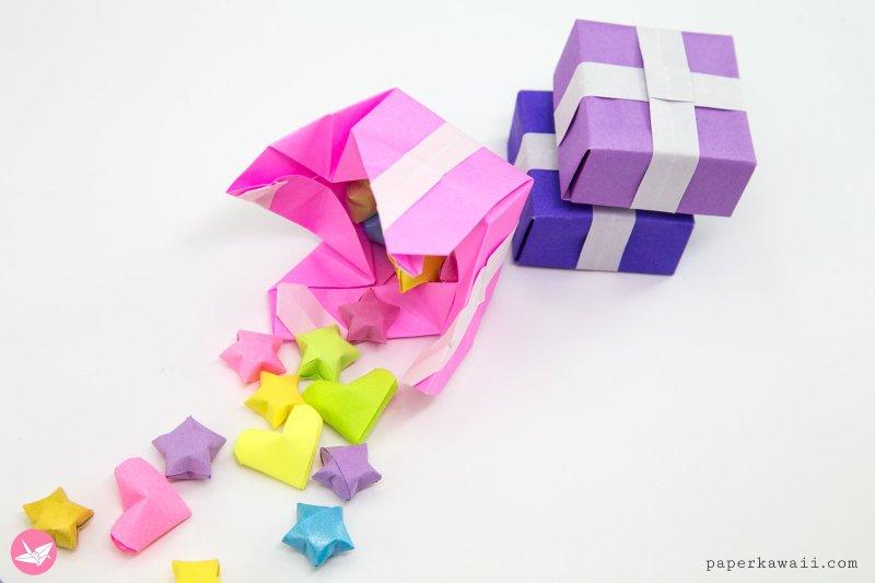 Origami Present Gift Box Tutorial via @paper_kawaii