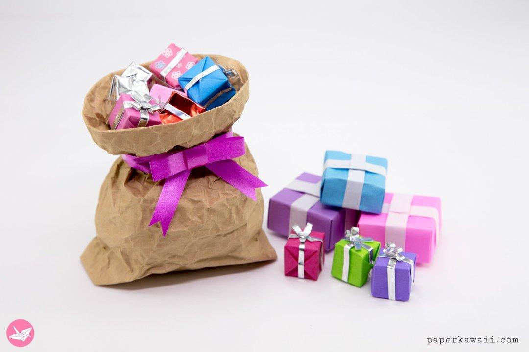 Cute Mini Origami Presents Tutorial via @paper_kawaii