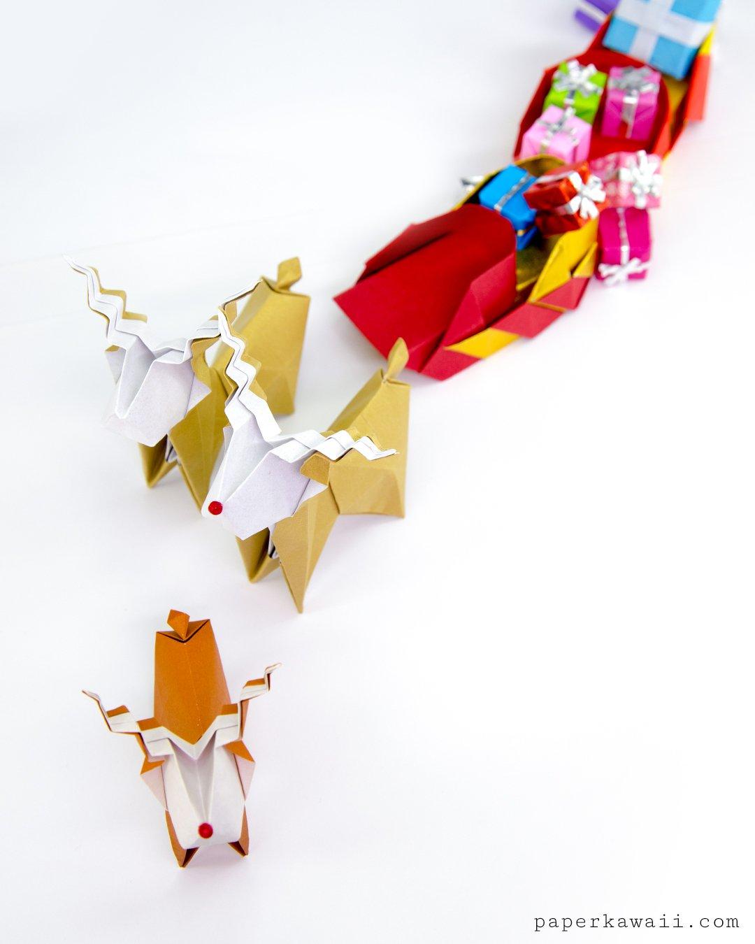 Origami Reindeer Tutorial - Make a cute paper Rudolf! via @paper_kawaii