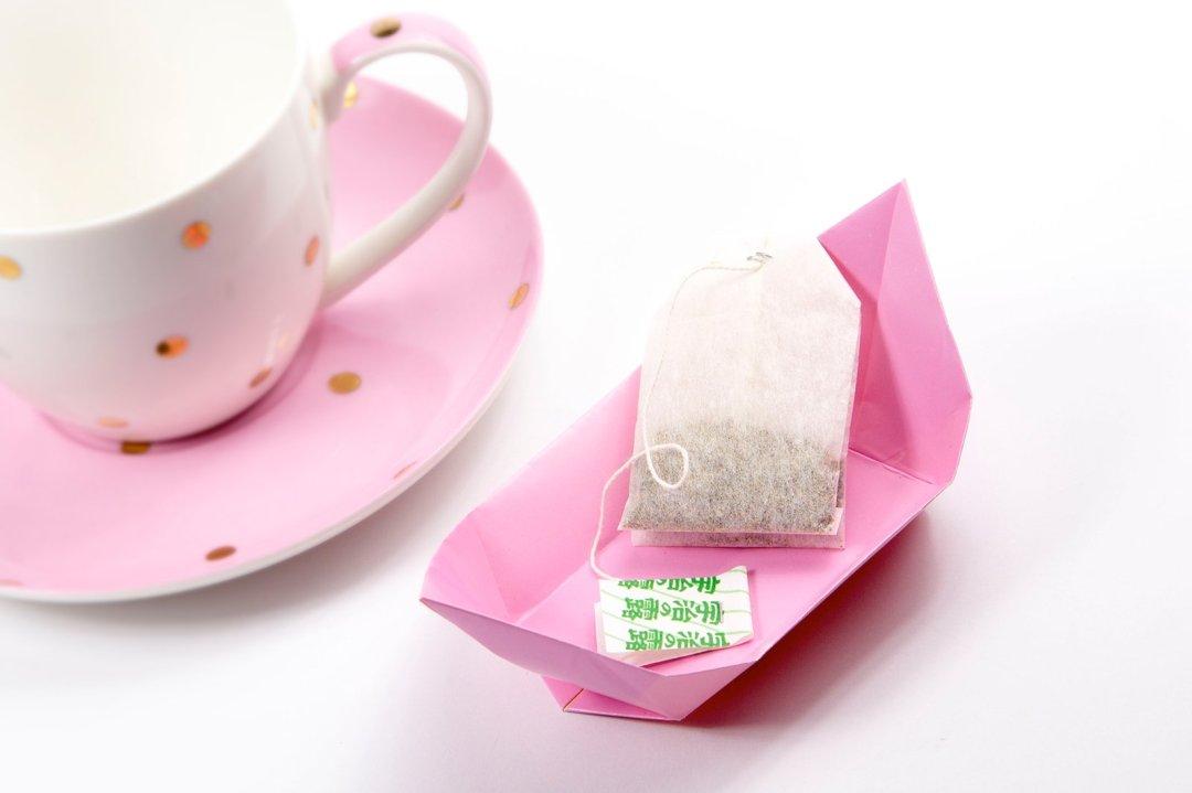 Tea Plate via @paper_kawaii