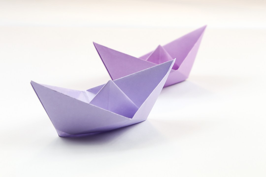 Sailboat via @paper_kawaii