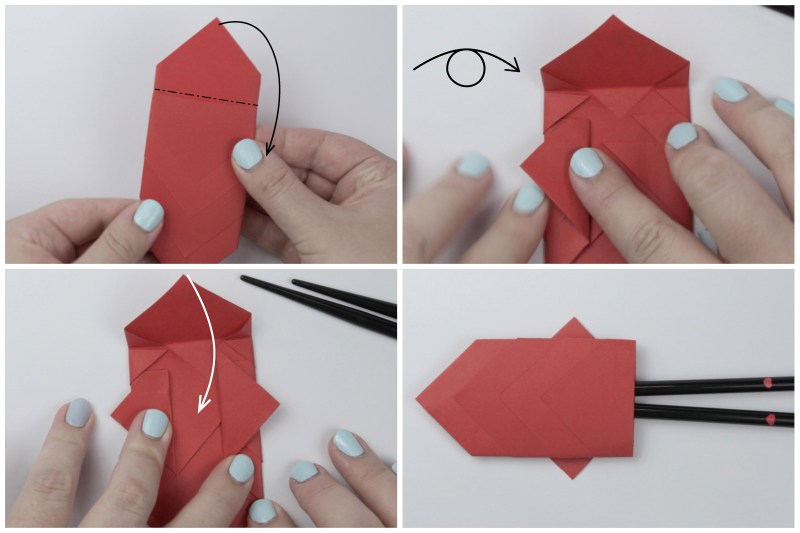 Origami swan (Chopstick rest) - YouTube | 533x800