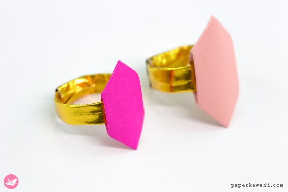 Origami Ring Tutorial – Hexagonal Jewel