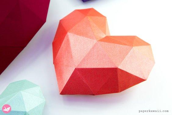 3D Paper Heart – Tutorial & Template