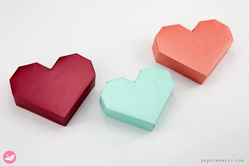 Paper Heart Box Tutorial via @paper_kawaii