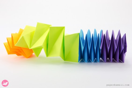 Magic Origami Spring Toy Tutorial