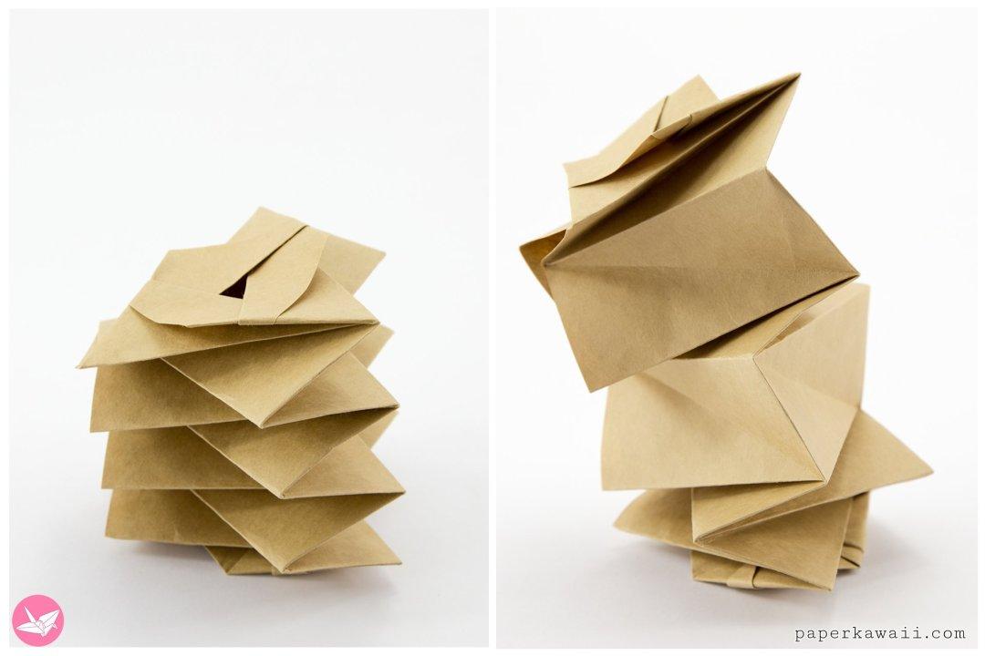 Magic Origami Spring Toy Tutorial via @paper_kawaii