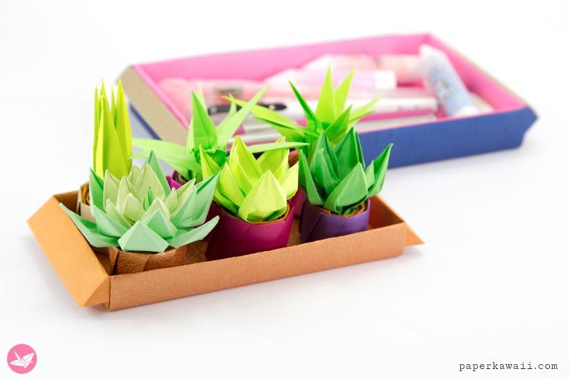 Origami Long Tray Tutorial via @paper_kawaii