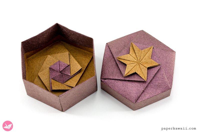 How to Make an Origami Hexagon Box Base (Modular 2 Unit ... | 533x800