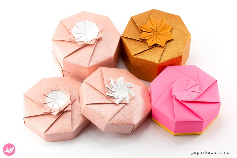 Octagonal Origami Gift Box Tutorial via @paper_kawaii